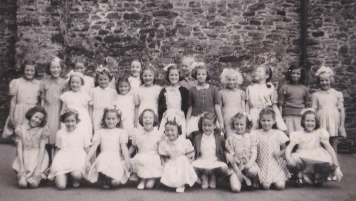 Girls at Pilton School circa 1949