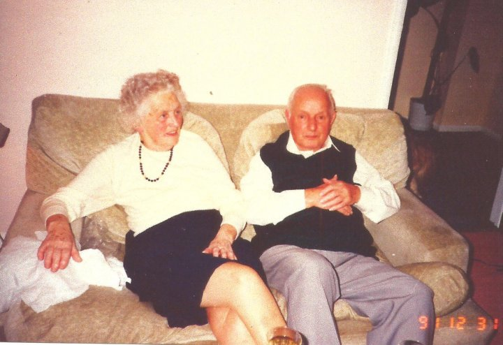 Jack and Hilda Squire of 49 The Rock, Pilton