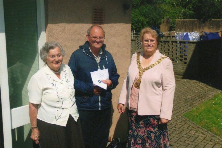 The Barnstaple Shillings presented to Pilton Lower Almshouse Residents 2014