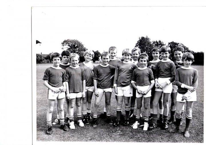 Pilton Bluecoat School Football Team in 1981/82