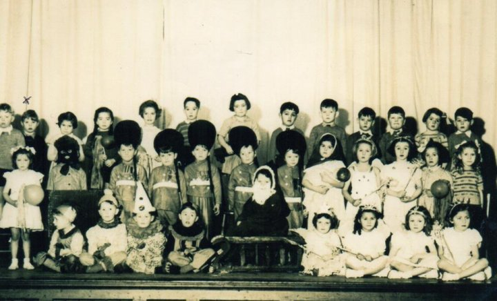 Pilton School Play in the Church Hall in 1952 or 53