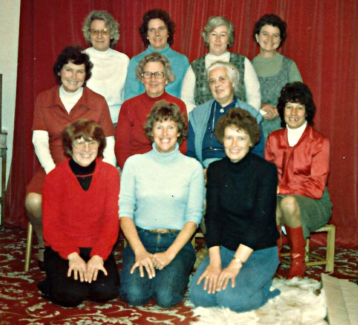 Pilton Women's Institute Committee in the early 1970s