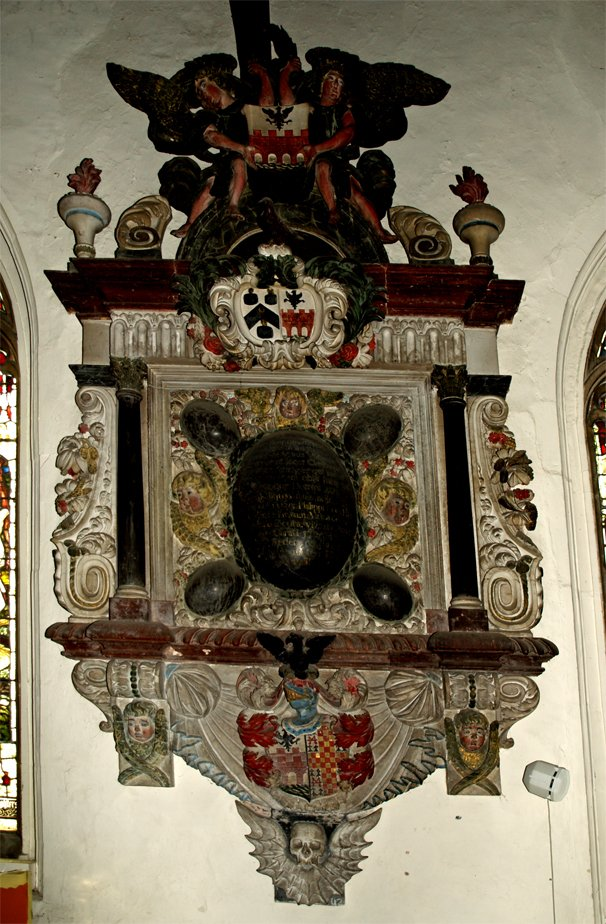 The Lethbridge Memorial in St Mary's Church, Pilton