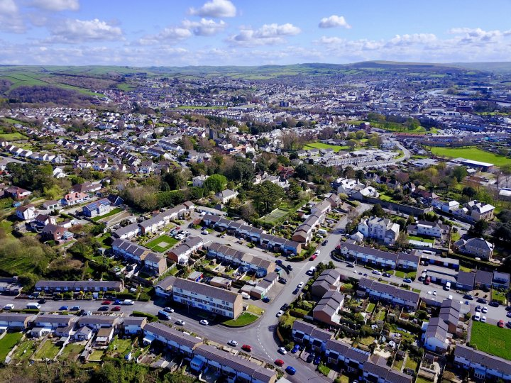 An Aerial View Across Pilton from the North West in 2017