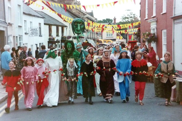 Pilton Festival parade in the 1990s