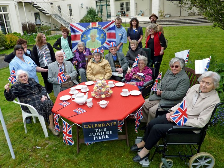 Celebration of the Queen's Jubilee at Pilton House, June 2012