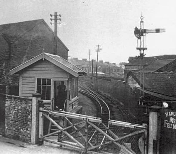 Pilton Signal Box on the Lynton & Barnstaple Railway