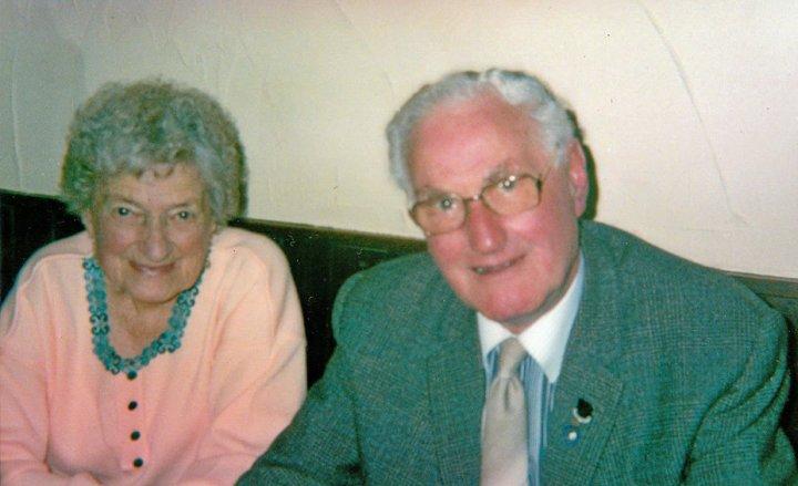 Fred and Doris Andrews of Priory Gardens, Pilton