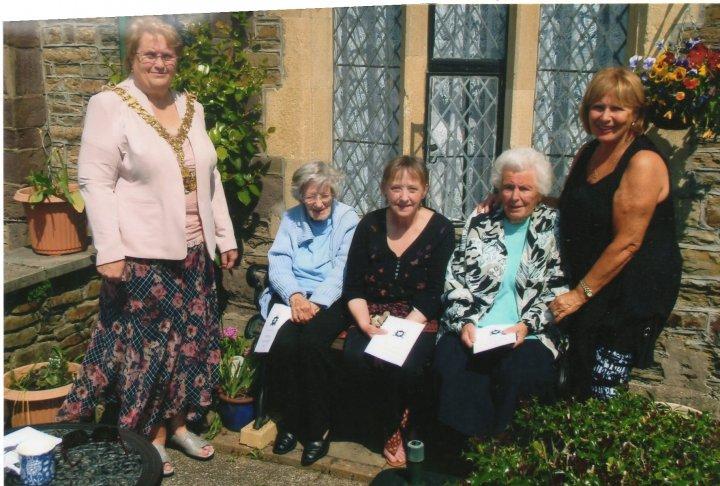 The Barnstaple Shilling presented to Pilton Upper Almshouse Residents 2014