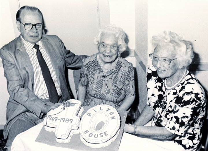 Celebrating the 40th Birthday of Barnstaple Old People's Housing Association at Pilton House in 1989