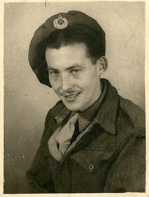 Arthur Thorne of Priory Gardens, Pilton with REME in Brussels