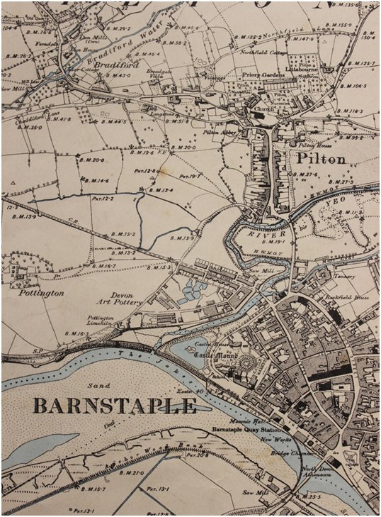 OS Map Accompanying 'The Origins of Barnstaple and Pilton'