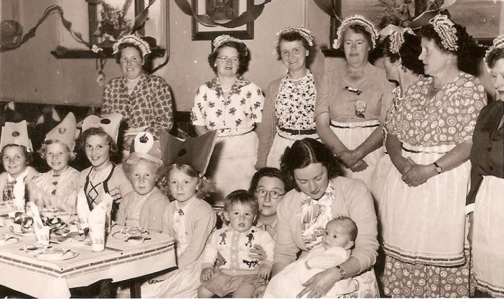 Coronation Children's Party in Pilton Church Hall in June 1953
