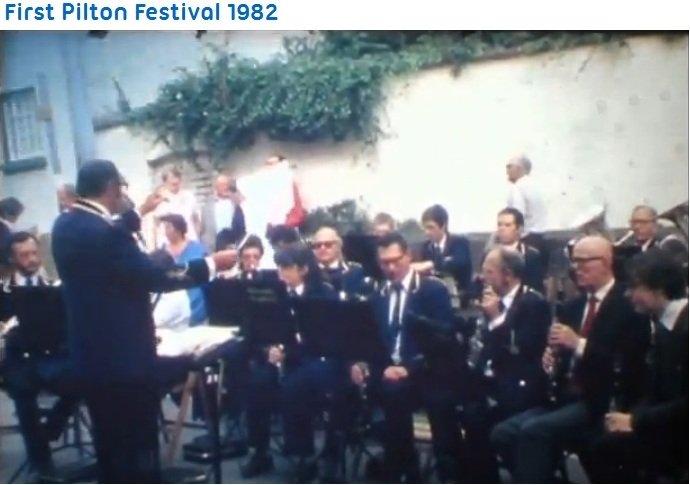 Barnstaple Concert Band at Pilton Festival 1982