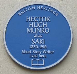 Blue Plaque for Hector Munro alias Saki