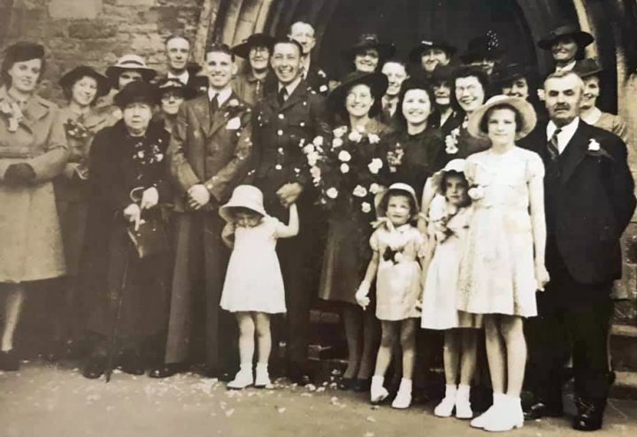 Wedding of Cyril Phillips Webber and Florence Joan Chugg at Holy Trinity Church on Tuesday 2nd June 1942