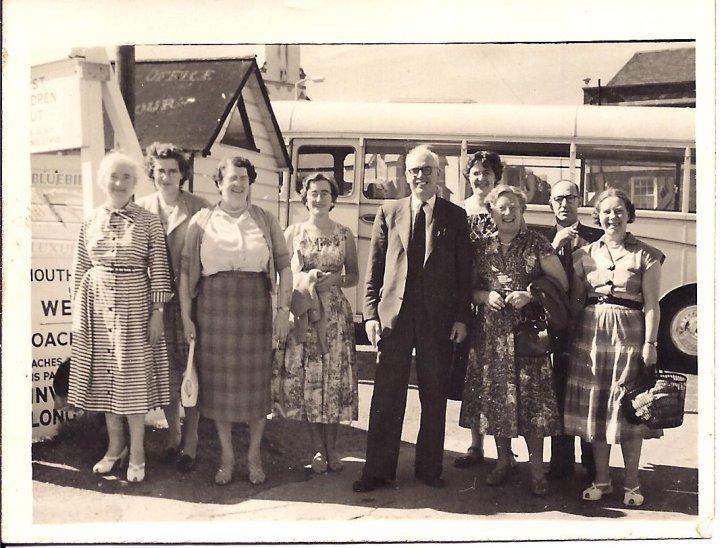 St Mary's Church, Pilton, Choir Outing in the late 1950s