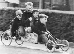 Box carting through Pilton