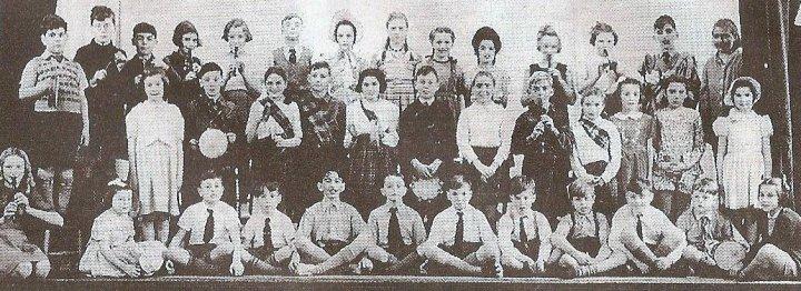 Pilton Primary School Pupils in the Church Hall around 1950