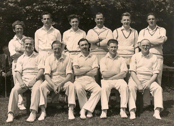 Pilton Cricket Club about 1950