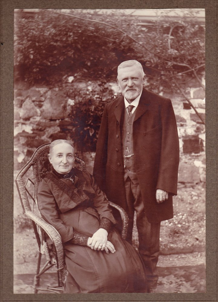 Mr William Thomas of Pilton with his wife Miss Pickard of Shirwell