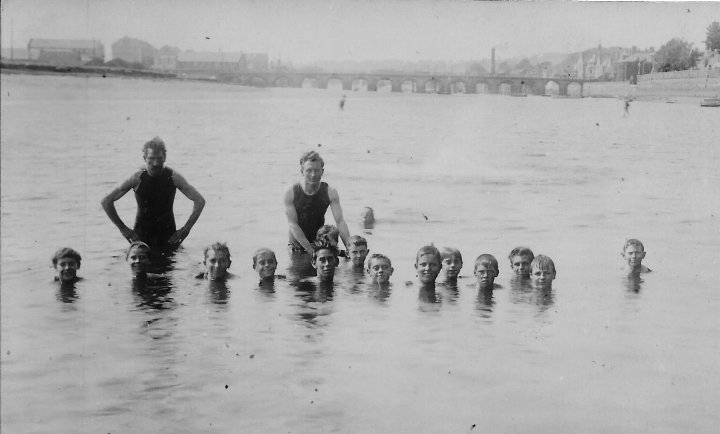 River Taw Bathing in the 1920s