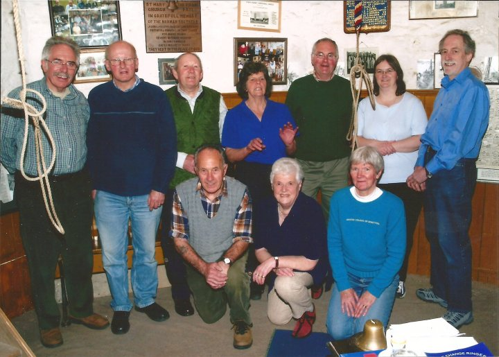 Some of the Bellringers of St Mary's Church, Pilton in 2008
