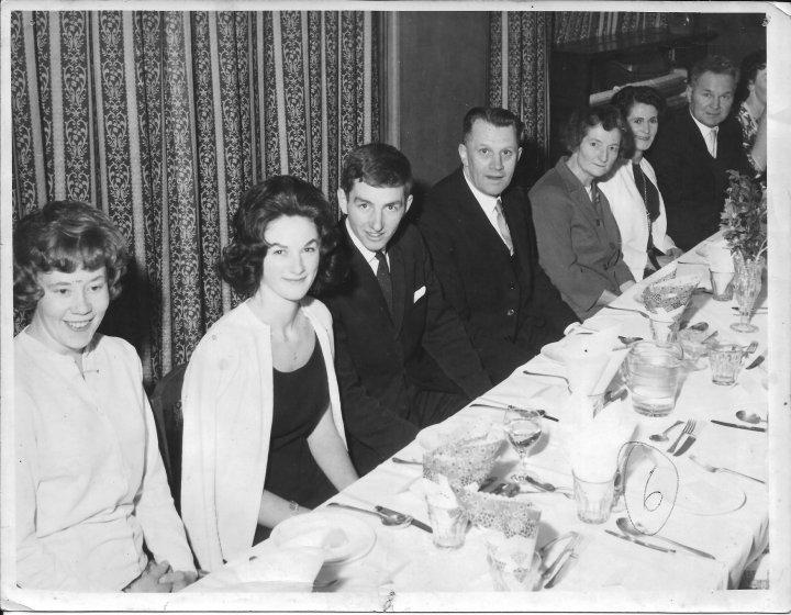 Barnstaple Station Fire Brigade Christmas Dinner 1963